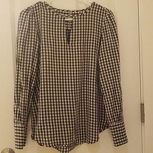 ANN TAYLOR LOFT plaid shirt.